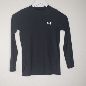 Under Armour Black Long Sleeve Base Layer Top